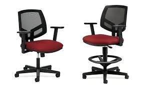 Hon Adjustable Height Desk by Hon Chairs Hon Solutions Seating Fabric Sled Base Guest Chair