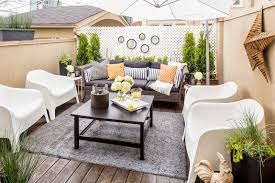 Outdoor Rug Square by Furniture Small Patio Design With White Modern Chairs And Square