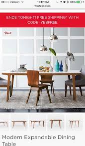 west elm expandable table west elm modern expandable dining table