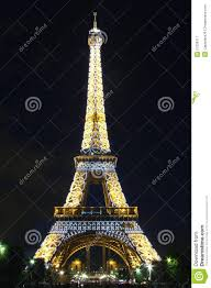 Beautiful Eiffel Tower by Eiffel Tower With Beautiful Light Pattern Editorial Photography