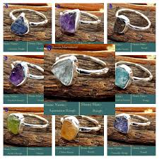 stone rings wholesale images 100 rings in natural rough stones and 925 sterling silver rfr100rwl jpg