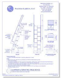 Alternate Tread Stairs Design Aluminum Alternating Tread Stairs Caddetails