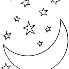 m is for moon coloring page coloring sky