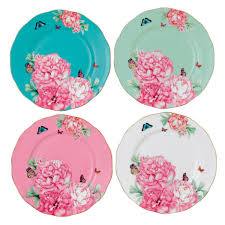 Set Of 4 Friendship Accent Plates Set Of 4 Miranda Kerr For Royal Albert