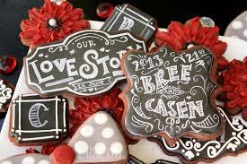 chalkboard wedding cookies lilaloa chalkboard wedding cookies