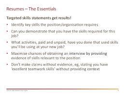 Teamwork Resume Statements Head Start Resumes
