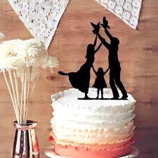 family cake toppers wedding cake toppers baby and with girl wedding