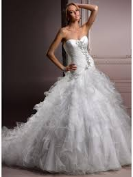 ball gown sweetheart court train princess wedding dresses 801073