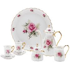 roses tea set miniature tea sets