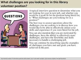 library volunteer interview questions