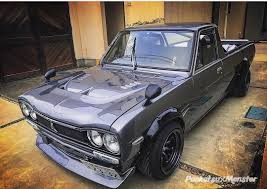 nissan hardbody hellaflush 74 datsun sunny pickup w 09racing dry carbon hakosuka conversion
