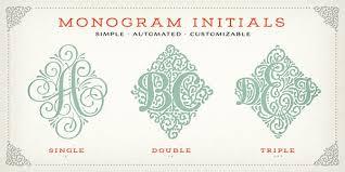 Create Monogram Initials Adorn Festive Vintage Fonts And Ornaments