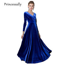 aliexpress com buy royal blue bridesmaid dress long sleeve