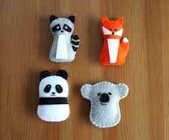 diy felt ornaments pattern gift topper panda koala fox