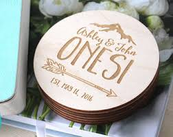 wedding coasters favors wedding coaster etsy