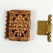 box bracelet clasps images Brass box clasps vintage clasps gingerbread brass patina brass jpg