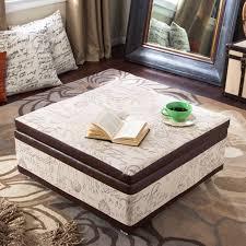 Storage Ottoman Fabric Ottoman White Upholstered Large Square Storage Ottoman
