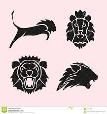 lion symbols set stock vector image 61712886