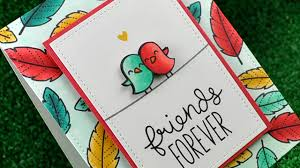 day cards for friends greeting cards friendship design with coupled small birds