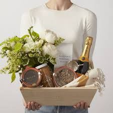Champagne Gift Basket Simone Leblanc A Joyful Morning Gift Box With Flowers Champagne