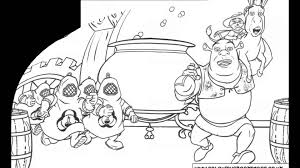 shrek colouring pages and kids colouring game youtube