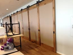 half room divider sliding glass dividers in home office the door