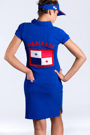 Flag Dress Panama Navy Blue Polo Dress For Ladies Golf Clothes