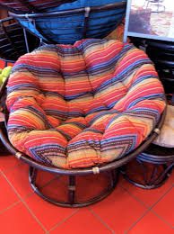Striped Patio Chair Cushions by Furniture Exciting Outdoor Papasan Chair For Home Furniture Ideas