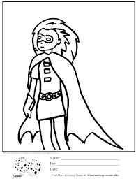 batgirl coloring page for girls ginormasource kids