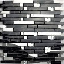 glass tile backsplash interlocking metallic mosaic diamonds 2 33