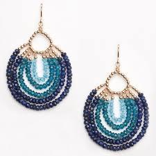 blue chandelier earrings gold blue peacock chandelier earrings e1426