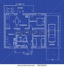 blueprint floor plan blueprint floor plan modern apartment on stock vector 398360005