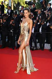 backless dress izabel goulart gold v neck backless dress the last cannes