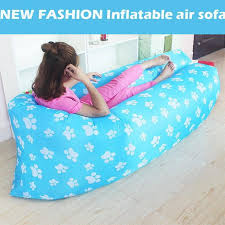 color inflatable air sofa air bed lazy sofa bag for camping beach