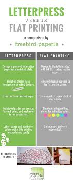 letterpress printing frequently asked question flat vs letterpress printing