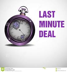 last minute deal stock vector image 43509784