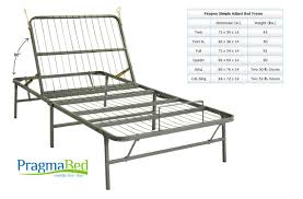 pragma bed fold up adjustable twin bed frame light weight metal pragma
