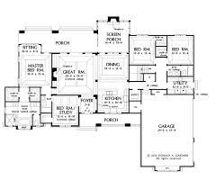 craftsman style house plan 4 beds 3 baths 2533 sq ft plan 929