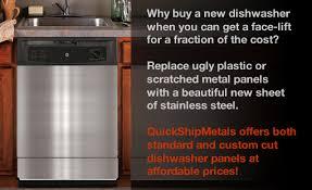 custom cut stainless steel backsplash steel dishwasher panels from quickshipmetals com