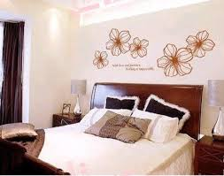 modern flowers bedroom wall decorations ideas for
