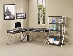 L Shaped Modern Desk by More Inspiration Acrylic Home Office Desks For A Clearly Fabulous