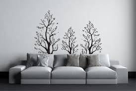 tree wall sticker with birds above bed decor over bed wall wall tree wall sticker with birds above bed decor over bed wall