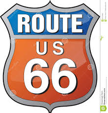Us Route 66 Map by Route 66 Logo Stock Photography Image 26743932