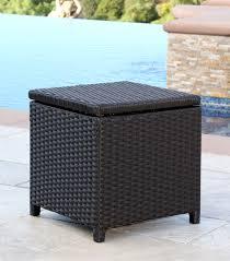 outdoor wicker storage cabinet patio furniture newport outdoor espresso brown wicker storage bin