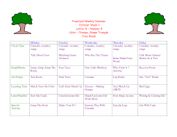 toddler lesson plans for october preschool weekly calendar