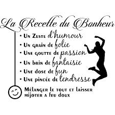 proverbe cuisine sticker citation la recette du bonheur stickers cuisine recettes