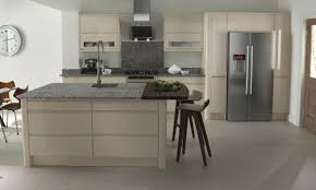 Beige Kitchen Cabinets by Remo Contemporary Curved Gloss Kitchen In Beige