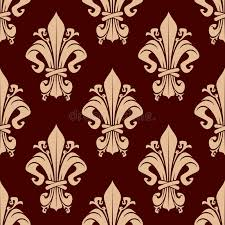 what is floral pattern in french brown vintage fleur de lis floral pattern stock vector