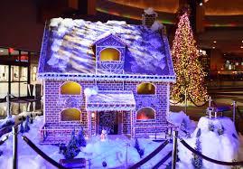 tulsa christmas light tours hard rock hotel casino tulsa creates life size gingerbread house