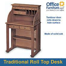 solid oak roll top desk solid oak compact roll top desk 29w officefurniture com